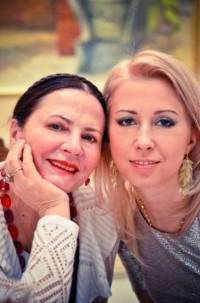 С дочкой Антониной