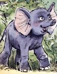 Любопытный слонёнок